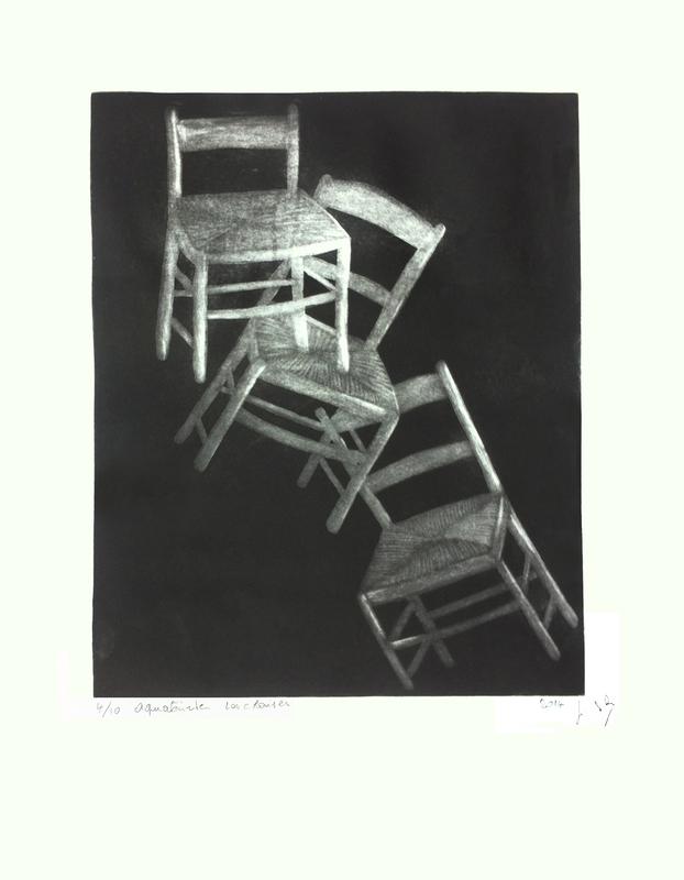 Jacotte SIBRE - Estampe-Multiple - Les chaises