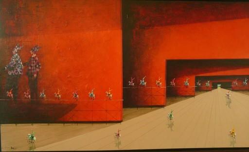 Trino SANCHEZ - Gemälde - pasaje rojo