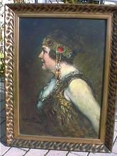 Ferdinand LEEKE - Painting - Vornehme Dame des Jugendstils