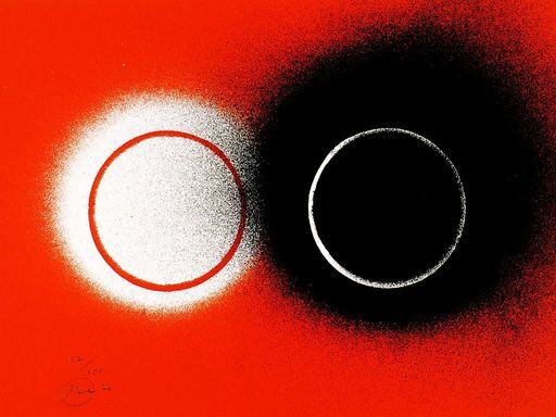 Otto PIENE - Grabado - Eclipse