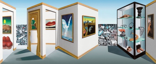 Patrick HUGHES - Peinture - Surreal