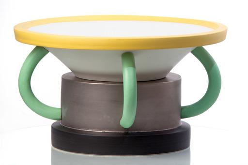 Ettore SOTTSASS - Ceramic - FRUTTIERA CON MANICI