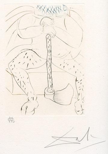 萨尔瓦多·达利 - 版画 - GRAVURE SIGNÉE CRAYON NUM/250 ML395 HANDSIGNED NUMB ETCHING
