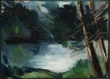 Maurice DE VLAMINCK - Pintura - Bord d'étang