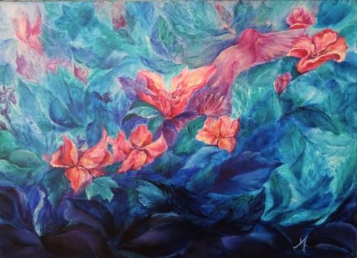 Anne Marie DELABY - Pittura - L'Essentiel est Invisible...