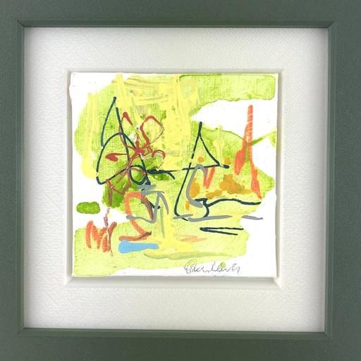 Nicole LEIDENFROST - Gemälde - Wiese mit Blume