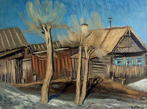 Valeriy NESTEROV - Pintura - Village landscape
