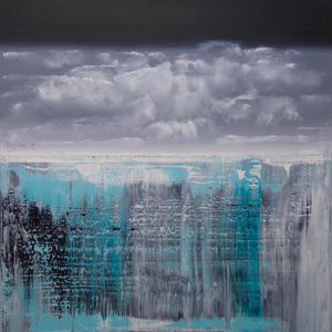 Harry James MOODY - Painting - Abstract and icebergs NO.322