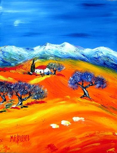 Marie-France BUSSET - Gemälde - LE MAS ET SES OLIVIERS