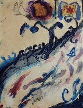 Moshe GERSHUNI - Dibujo Acuarela - For My Brethren and Companions