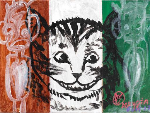 Aboudia Abdoulaye DIARRASSOUBA - Gemälde - Cheshire Cat