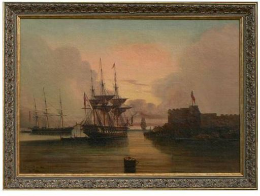 """Chéri François DUBREUIL - Gemälde - """"Le port de Gêne"""""""