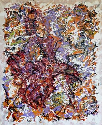 NADIA - Peinture - Fiore flamenco 2