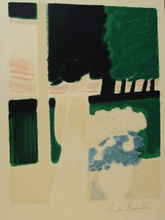 """安德烈·布拉吉利 - 版画 - """"Fenétre sur le parc""""1973."""