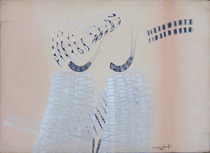Sergio DANGELO - Pittura - L'entrata dei mediums