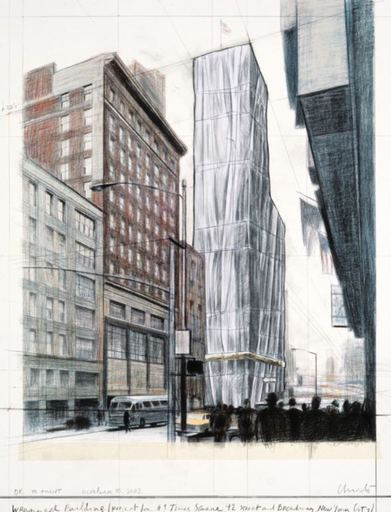 CHRISTO - Print-Multiple - Wrapped Building Project / #1 Times Square
