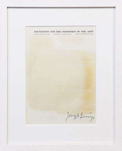 """Joseph BEUYS - Grabado -  Fettbrief """"Foundation for the promotion of the arts"""""""