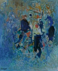 Elie KANAAN - Painting - Fête foraine