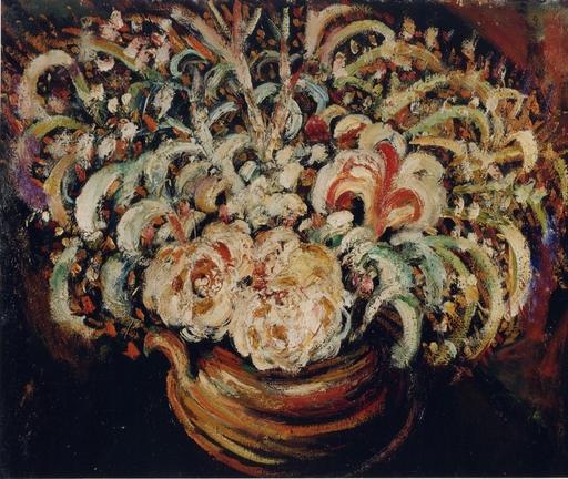 Pierre Jean DUMONT - Painting - Fleurs, 1911