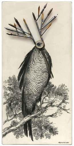 Bruno MALLART - Drawing-Watercolor - Cyclope III