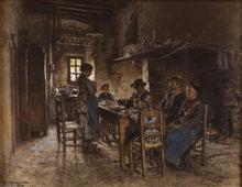 Léon Augustin LHERMITTE (1844-1925) - Le Bénédicité au Chaussin près de Vichy