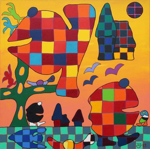 Michael JANSEN - Painting - Auf der Suche