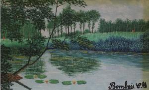 Camille BOMBOIS - Pintura - Promenade de la Marne