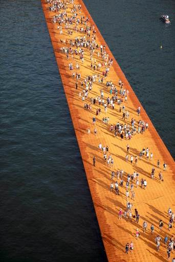 CHRISTO - Photo - Lago d'Iseo - WV25