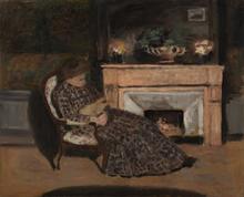 Albert ANDRÉ - Pintura - Maleck et son chat