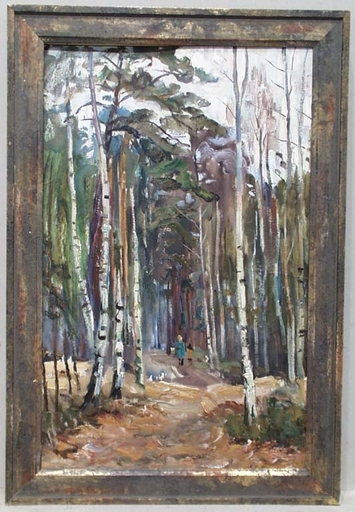 "Vassili KARKOTS - Gemälde - ""Walk in Forest"", Oil Painting by Vasili Karkots"