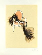 René GRUAU - Print-Multiple - Les gants sur le fauteuil - Gloves on chair