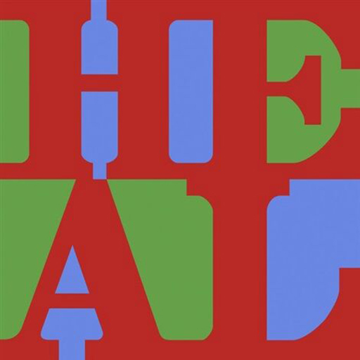 Robert INDIANA - Grabado - HEAL (Red, Green, Blue)