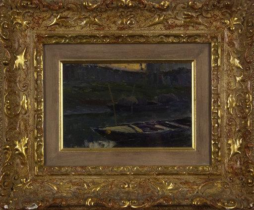 Giuseppe DANIELI - Gemälde - Barche in ormeggio