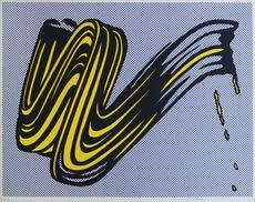 Roy LICHTENSTEIN - Grabado - Brushstroke Corlett II 5