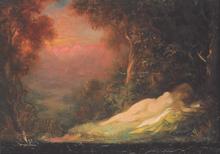 Louis ANQUETIN - Peinture - Nudo sotto gli alberi, 1920