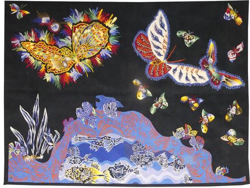 Jean LURÇAT - Tapestry - papillons