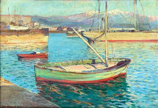 Navarrino NAVARRINI - Gemälde - Nel porto di La Spezia