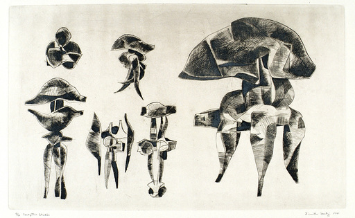 Dimitri HADZI - Grabado - Sculpture Studies