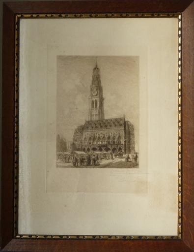 Arthur MAYEUR - Print-Multiple - le beffroi et hotel de ville d arras