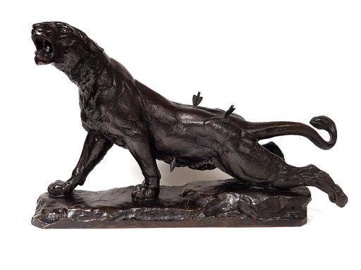 Charles VALTON - Escultura - Lionne blessée