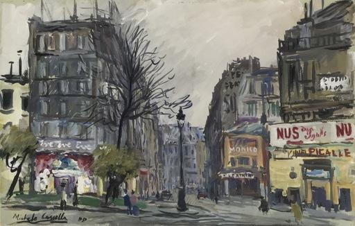 Michele CASCELLA - Peinture - Plaze Pigalle Parigi