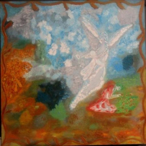 ATCHAMA - Painting - ange protecteur