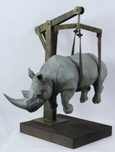 Stefano BOMBARDIERI - Sculpture-Volume - Il peso del tempo sospeso rhino moyen