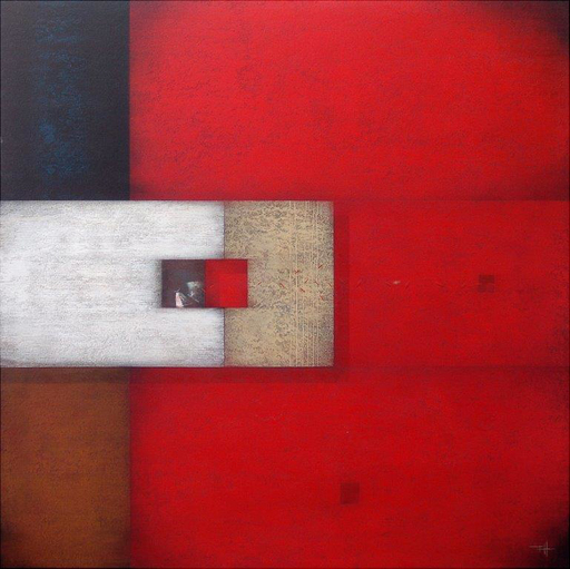 Frank JENSEN - Pintura - RED BLUES