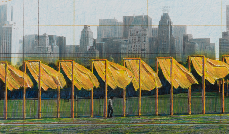 CHRISTO - Painting - The Gates, Project for Central Park, New York City