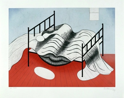 Louise BOURGEOIS - Stampa Multiplo - Le Lit Gros Édredon (with lips)