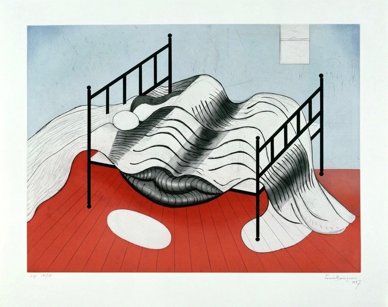 Louise BOURGEOIS - Stampa-Multiplo - Le Lit Gros Édredon (with lips)