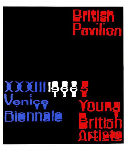 Raymond HAINS - Stampa-Multiplo - British Pavilion (Angleterre)
