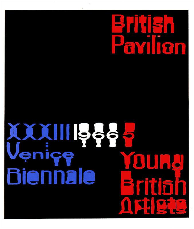 Raymond HAINS - Estampe-Multiple - British Pavilion (Angleterre)