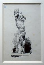 Ulpiano CHECA Y SANZ - Drawing-Watercolor - «Alonso Berruguette» Astruc -Espagne